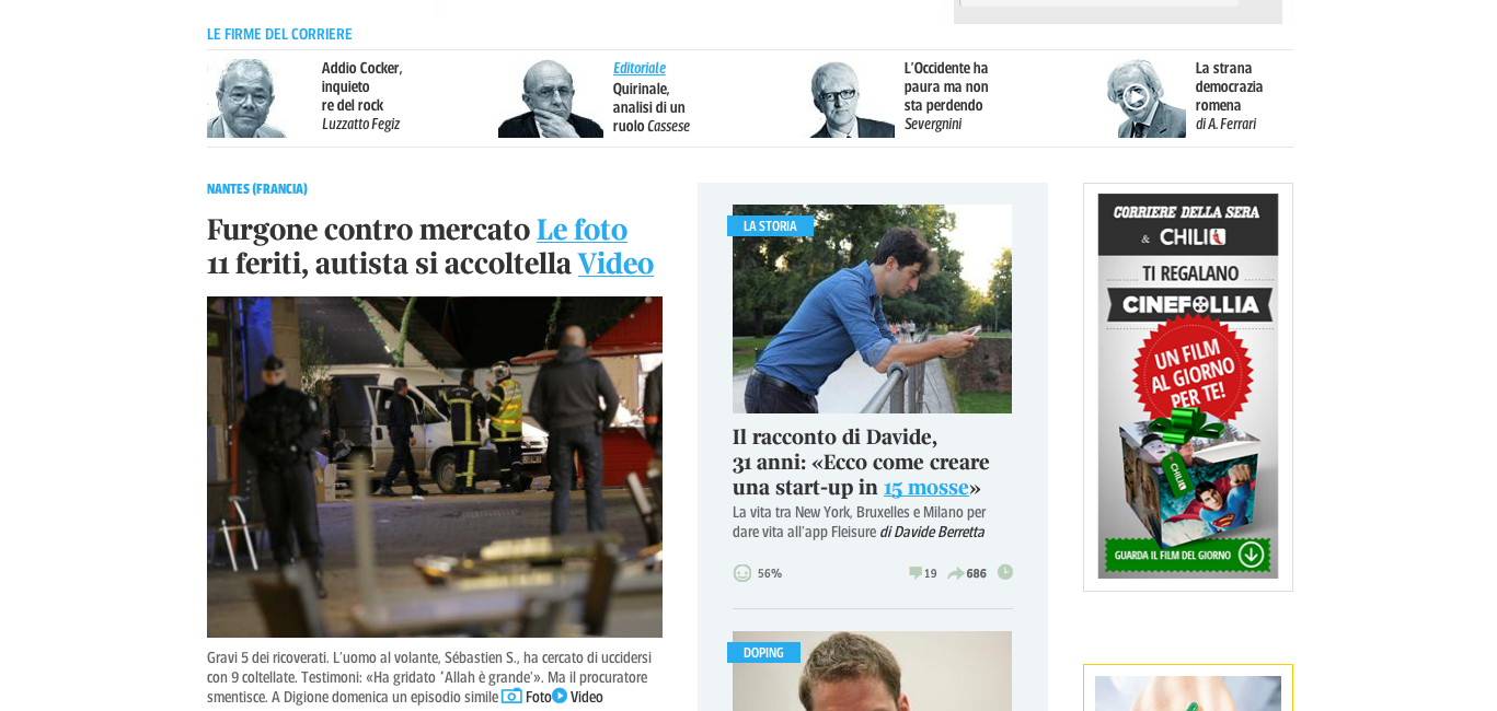 Homepage Corriere